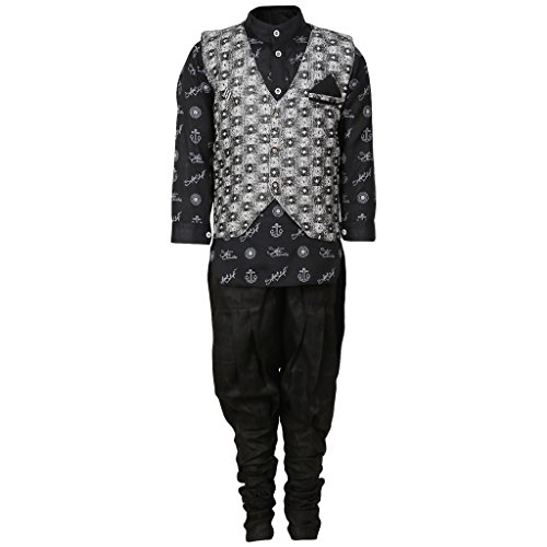 FOCIL Black Kurta Balloon Pant With Grey Jacket by FOCIL
