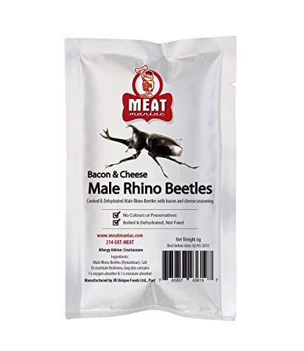 Meat Maniac Salted MALE RHINO BEETLES for $<!--$11.95-->