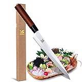 """MSY BIGSUNNY 9"""" Yanagiba Knife Stainless Sushi Knife Rose Wood Handle Professional Slicing Chef Knife Sashimi Knife"""