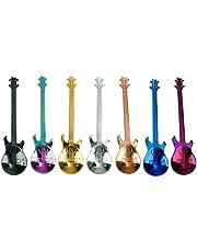 DatingDay 4 Pack Guitar Pattern Stainless Steel Musical Coffee Spoon Ice Cream Teaspoon Tableware