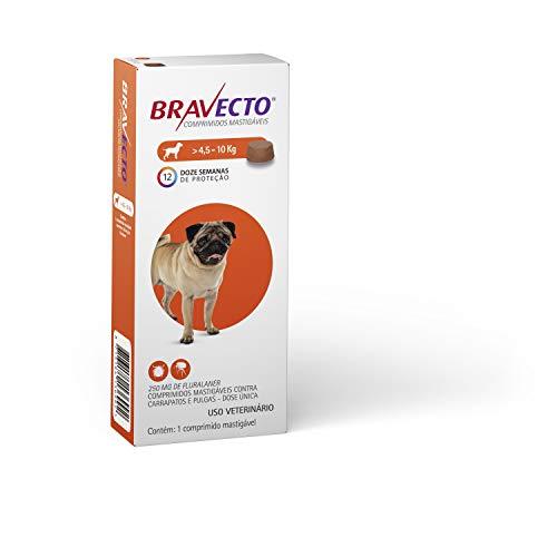 Bravecto Cães 4,5 até 10kg, 250mg Bravecto para Cães, 4,5 até 10kg