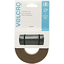 """ONE-WRAP Roll, Double-Sided, Self Gripping Multi-Purpose Hook and Loop Tape, Reusable, 12' x 3/4"""" Roll - Coyote"""