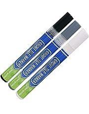3Pcs Grout Pen Repair Pen Set(White/Dark Gray/Black) Waterproof Marker Grout Restorer Pen for Wall Floor Tile Lines