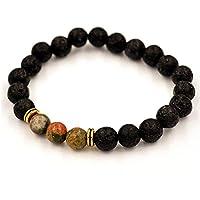 JSPOYOU Promotions Women Men Agate Lava Stone Transport Bead Bracelet Tibet Charm Bracelets