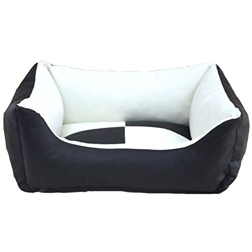 DogOne Dog basket My Style Black White S 60x44x23