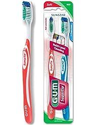 Sunstar 460VPG GUM Super Tip Toothbrush, Full Soft Bristle, Value Pack