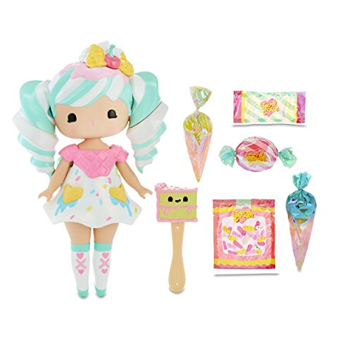 Secret Crush Surprise Large & Small Dolls - Sundae Swirl, Winnie Wafflecone Candy-Themed Hammer, Heart-Shaped Display Case for Storage & A Stand, Beads & Lanyard for DIY Jewelry - Kids Ages 3+