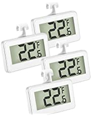 Spiralization Direct 4 Pack Digital Fridge Freezer Thermometer, Digital Refrigerator Temperature Monitor with Hook for Hanging, Ideal for Kitchen, Home, Restaurants
