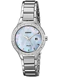 Seiko Womens SUT135 Dress Solar Analog Display Japanese Quartz Silver Watch