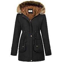 GRACE KARIN Womens Hooded Warm Winter Thicken Fleece Lined Parkas Long Coats CLAF1030