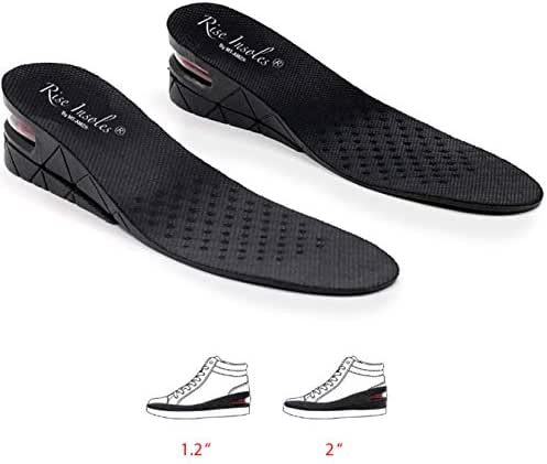 Height Increase Insoles, 2-Layer Orthotic Heel Shoe Lift kit with Air Cushion Elevator Shoe Insole Lifts Kits Inserts for Men & Women Taller Insoles 1.2
