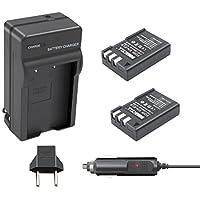 Bonacell 2 Pack 2000mAh Replacement Nikon EN-EL9 Li-ion Battery and Charger Kit for Nikon D5000 D3000 D60 D40x D40 Digital SLR Camera