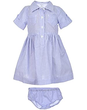 Baby Girls' Shirt Dress with Diaper Cover