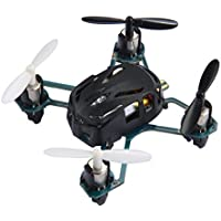 COOCHEER Hubsan H111 Q4 RC Mini Drone Nano 4-Channel 6 Axis Gyro RC Mini Quadcopter Drone with 2.4Ghz Radio System Mode 2 RTF for Kids (Black)
