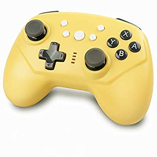 Wireless Controller for Nintendo Switch, Built-in Gyro and Gravity Sensor & Motion Vibration, Comfortable Grip Remote Gamepad Compatible with Nintendo Switch Console (Yellow)