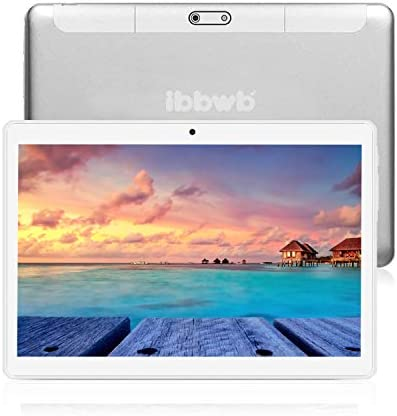 Android Tablet 10 Inch, 5G WiFi Tablet, Quad-Core Processor, 1GB RAM, 16GB ROM,800x1280 Touch Screen Full HD Display, Bluetooth, GPS,OTG – Silver