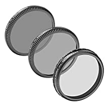 Neewer® for DJI OSMO/Inspire 1, Professional 3-Pack Filter Set: (1)PL Filter+(1)ND8 Filter+(1)ND16 Filter, Made of High Definition Glass