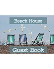 Beach House Guest Book: Great Guest Book| Guest Sign In for Vacation Home Rental |Perfect for Rental | Vacation Holiday Home Beach Guestbooks