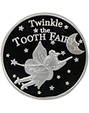 YRCHENGLI Gold Silver Plated Twinkle Tooth Fairy Coin Collection Souvenir Challenge Art