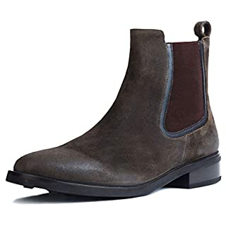 Thursday Boot Company Duchess Women's Chelsea Boot, Dark Olive Suede, 8.5 M US