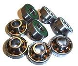 Skateboard Bearings, Built-In Spacers, Extended Ceramic (Pack of 8)