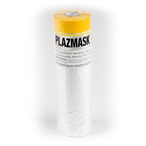 PlazMask Pre-Taped Masking Film, 6-Feet X 65-Feet