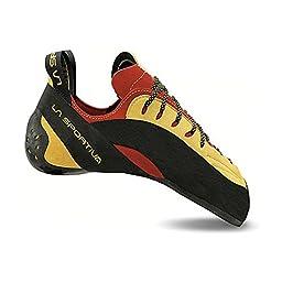 La Sportiva Testarossa Climbing Shoe - Red/Yellow 44
