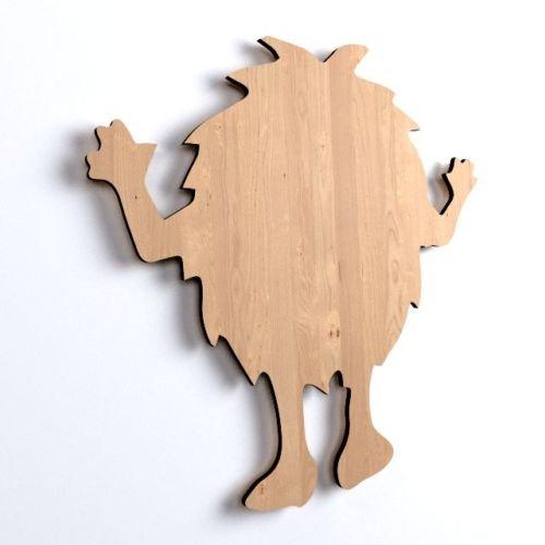 10x Fluffy Monster blank Form Holz Basteln Bemalen Aufhängen Dekoration (V44)