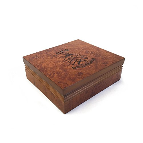 Pi Kappa Phi Fraternity Wood Pin Box Marble Effect Elegantly Engraved Greek Letter Pi Kapp