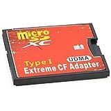 手持ちのmicroSDカードをCFカードTypeIに変換 N/B Extream CFアダプター EXCFAD-MICRO1