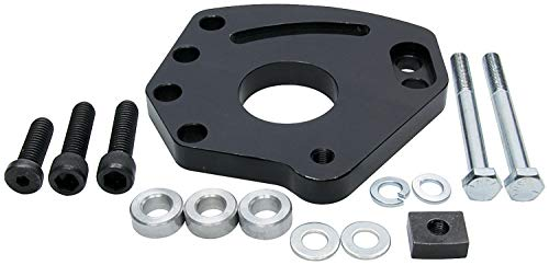 Allstar ALL48500 Blue Anodized Aluminum Left Cylinder Head Mount Power Steering Pump Bracket Kit for Small Bock Chevy