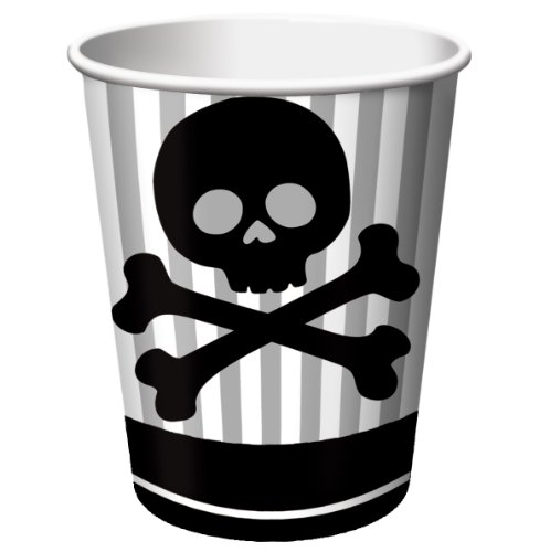 8-Count 9-Ounce Hot/Cold Beverage Cups, Pirate (Halloween Event In Denver)