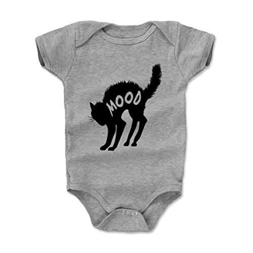 Cat Baby Clothes, Onesie, Creeper, Bodysuit - Black Cat Mood (Heather Gray, 6-12 - Black Cat Bib