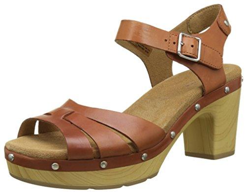 Clarks Damen Ledella Trail Sandalen Braun (Tan Leather)