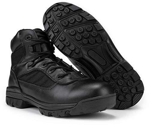 """RYNO GEAR 6"""" Men's Black Tactical Combat Boots with Coolmax Lining (6.0, 10)"""