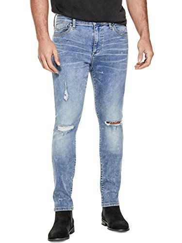 G by GUESS Men's Upland Slash-Knee Skinny Jeans