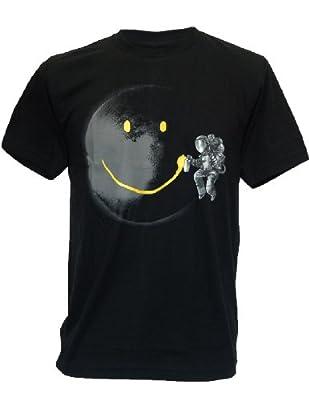 SODAtees Full Moon Graffiti Tag Smiley Graphic Design Men's T-SHIRT