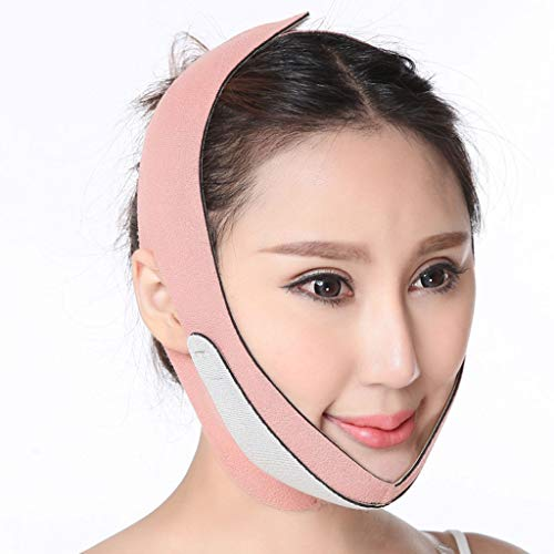 Double Chin Strap, Face Slimming Mask V Face Belt Face-Lift Bandage Lift Chin Cheek Slim Slimming Bandages Breathable,1