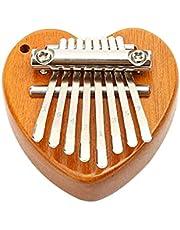Mini Thumb Piano,Kalimba 8 Keys Marimbas,Portable Wooden Finger Marimbas with Lanyard for Kids and Adults Beginners