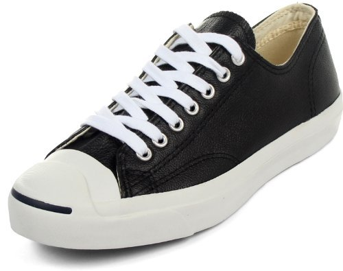 Converse Jack Purcell Leather Fashion-Sneakers, Black/Whi...