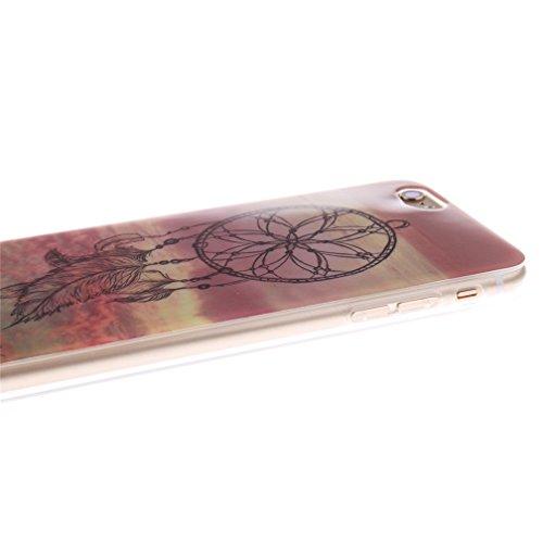 KATUMO® Funda y Carcasa para iPhone 6 Plus/iPhone 6s Plus, TPU Transparent Funda Dura para Apple iPhone 6 Plus Protectora Case Cover Carcasa Silicona Gel-León Atrapasueños