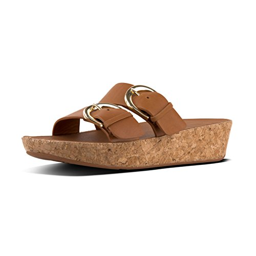 Leather Buckle FitFlop Marrone 098 Caramel Sandals Duo Slide U1x5xnqzI