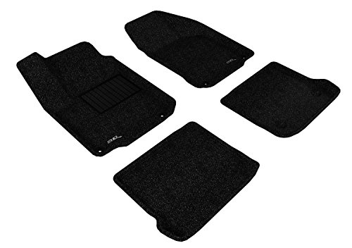Beetle Carpet Volkswagen (3D MAXpider Complete Set Custom Fit Floor Mat for Select Volkswagen Beetle Models - Classic Carpet (Black))