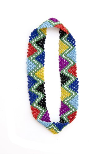 Bead Seed Triangle - Sizzle City Custom Colored Native American Pattern Elastic Stretch Seed Bead Headbands/Hair Accessories (Rainbow Triangles)