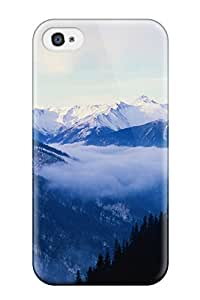 Special ZippyDoritEduard Skin Case Cover For Iphone 4/4s, Popular Winter Mountains Phone Case
