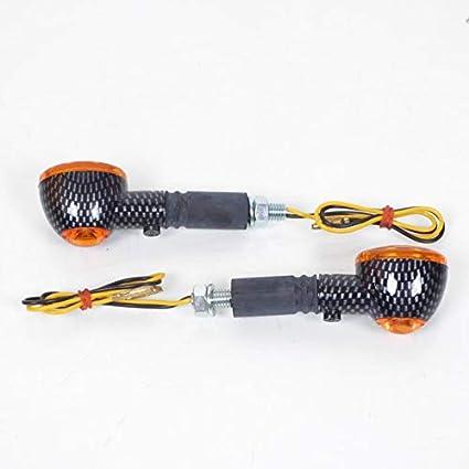 one by Camamoto cod 77206153B kit set coppia indicatori frecce carbonio carbon look 25 leds gambo corto omologate CE attacco universale compatibile con moto scooter cafe race motard enduro quad