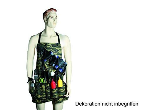 Out of the blue 14/2025 Grillschürze Camouflage mit 6 Dosenhalterungen