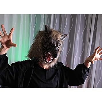 Leisial Maschera di Halloween Maschera di Orrore Set Completo Copricapo Forma di Lupo Della di Festival di Fantasma per Maschera Feste Decorazioni