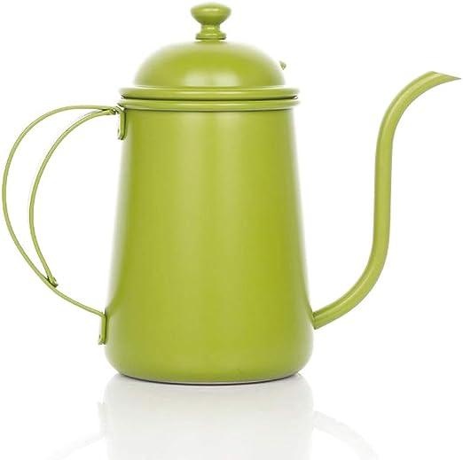 GYCC Vierta sobre la cafetera de Goteo de café de Acero Inoxidable, 700 ml, Tetera, Verde: Amazon.es: Hogar