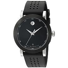 Movado Men's 0606507 Museum Black Rubber Watch